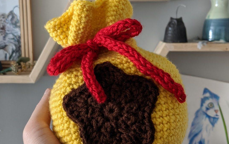 Animal Crossing Giant Bell Bag Crochet Pattern
