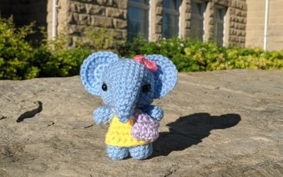 Schoolkid Elephant Amigurumi Crochet Pattern