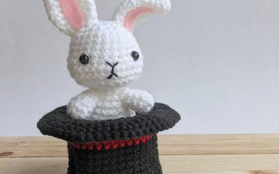 Magic Hat Rabbit Amigurumi Crochet Pattern