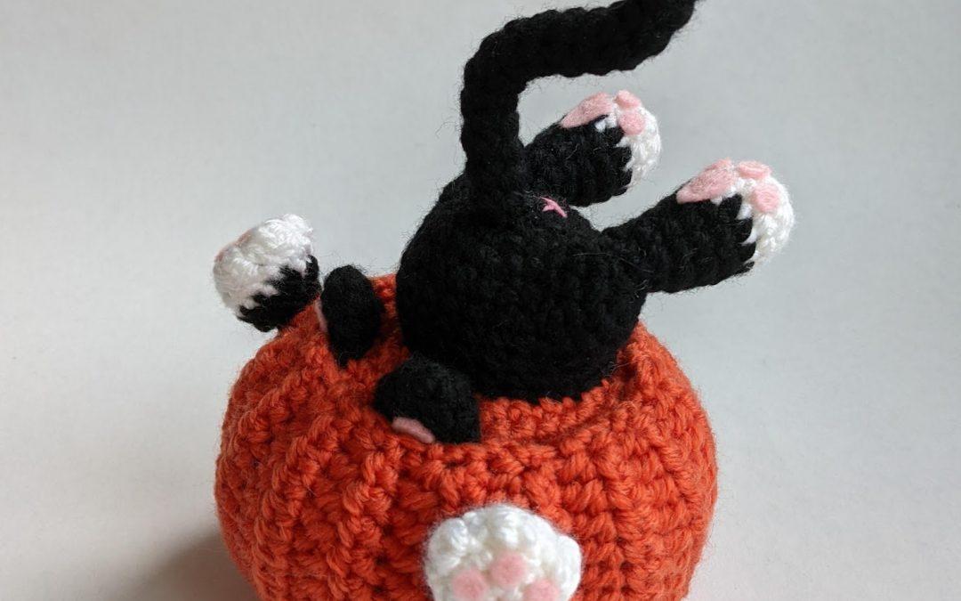 Pumpkin Diving Cat Amigurumi CAL Part 1